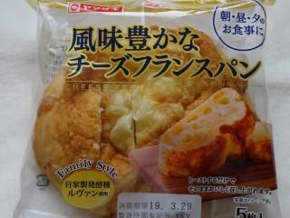 ヤマザキ 風味豊かなチーズフランスパン(5枚入).jpg