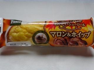 Pasco おいしいシューロール マロン&ホイップ.jpg