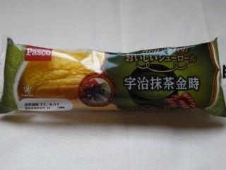 Pasco おいしいシューロール 宇治抹茶金時.jpg