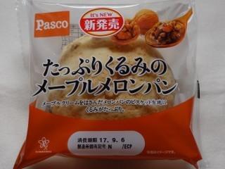 Pasco たっぷりくるみのメープルメロンパン.jpg